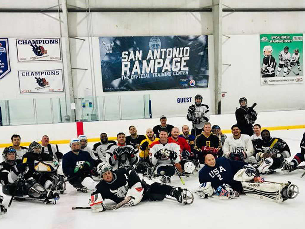 group sled hockey pic
